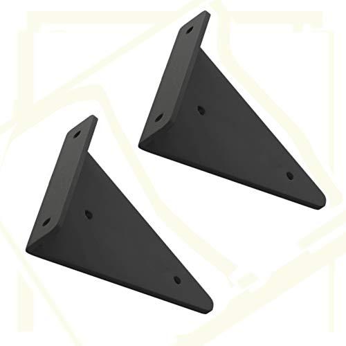 2ST Regalträger for Regale Heavy Duty Massiv Bank Tisch Unterstützung Dreieck 90 Grad-Winkel der Wand befestigten Regal Supporter-Klammer-Rahmen mit Schrauben, Schwarz, 5 Größen (Size : 8cm)