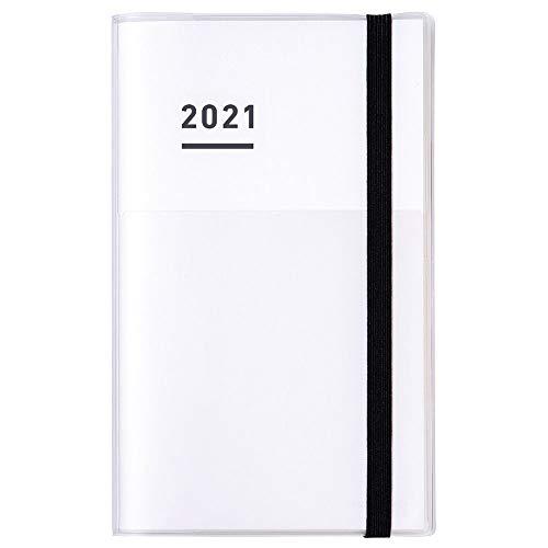 コクヨ ジブン手帳 ファーストキット 手帳 2021年 A5 スリム マンスリー&ウィークリー ホワイト ニ-JF1W-21...