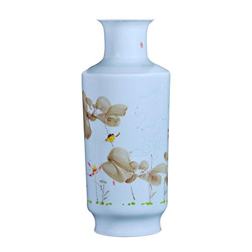 JCOCO Céramique Demi-Couteau Boue Glaze Couleur Vase Peint à la Main Arrangement De Fleurs Salon Décoration Moderne Minimaliste Décoration de La Maison