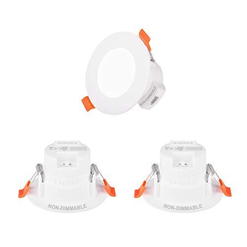 Mini Lampade Plafoniere Faretti Spot a LED da Incasso da Soffitto 5W IP44 per Bagno Cucina Colore di Illuminazione Regolabile Non Dimmerabile Diametro Buco 65-80MM Lot di 3 di Enuotek