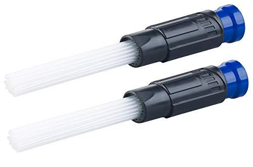 AGT Saugdüse: 2er-Set Universal-Staubsauger-Aufsätze mit 30 flexiblen Saug-Röhrchen (Staubsauger-Düse)