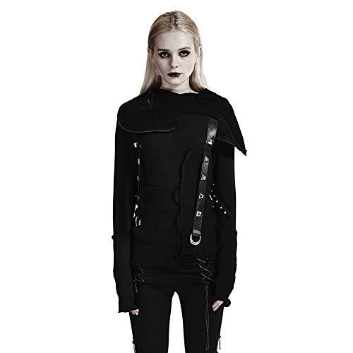 Punk Rave - Pull sans manche - Femme Noir Noir - Noir - L