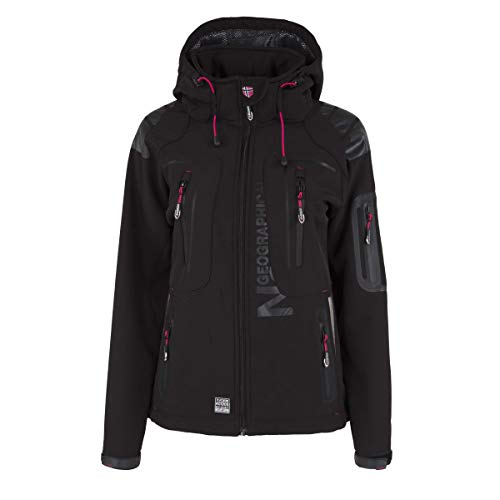 Geographical Norway Damen Softshell Outdoor Jacke Black L