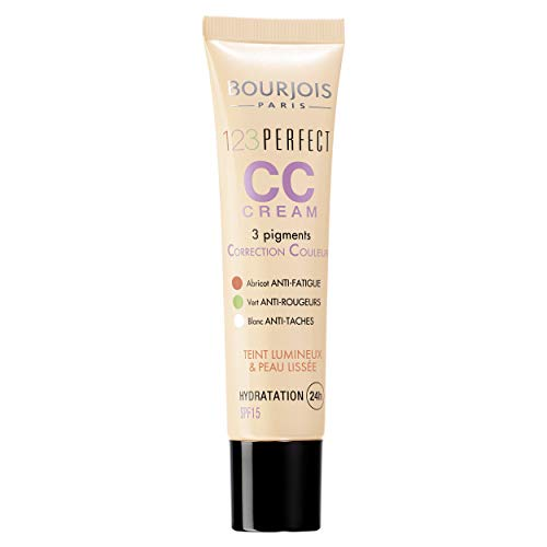 Bourjois - 123 Perfect CC Cream, crema correctora con color, tono light beige