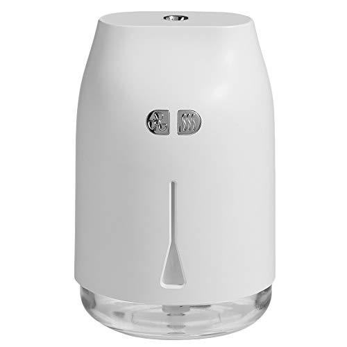 TOOGOO Atomizador Purificador Casero del Coche 240Ml Difusor de Aroma de Gotas de Agua Humidificador de Aire USB con Ventilador de Luz Nocturna LED