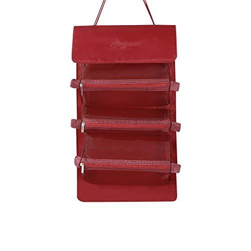 Pistaz - Neceser de baño para colgar con organizador de maquillaje y bolsa de viaje, 3 bolsas de cosméticos extraíbles para hombres y mujeres