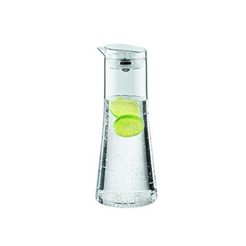 Bodum - 11187-10-2 - Bistro - Carafe à eau avec bouchon hermétique à bille - Transparent - 11 x 11 x 25,5 cm