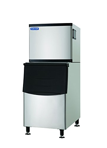 Commercial Ice Maker 500 Pounds Per Day with 350 lbs Storage Bin – Stainless Steel Industrial Modular Full Dice Ice Cube Machine – Quiet Operation – Air Cooling System - by Foster