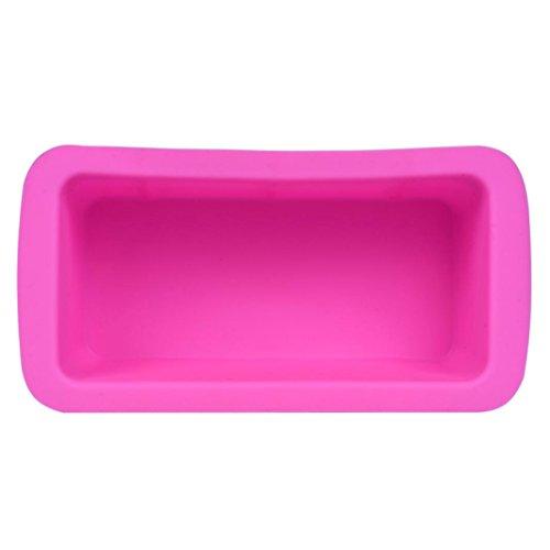 Moule à cake, Rawdah Moule à gâteau en silicone Moule four rectangle Mouldl, Silicone, rose, free size