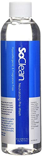 SoClean Neutralizing CPAP Pre-Wash, Fragrance-Free, Dye-Free, Compatible with All Washable CPAP Equipment, 8 Ounce Bottle