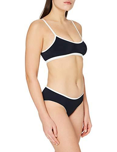 Marc O'Polo Body & Beach Beach W-BUSTIER BIKINI, Bikini coordinato Donna, Marina (Blauschwarz 001), 46