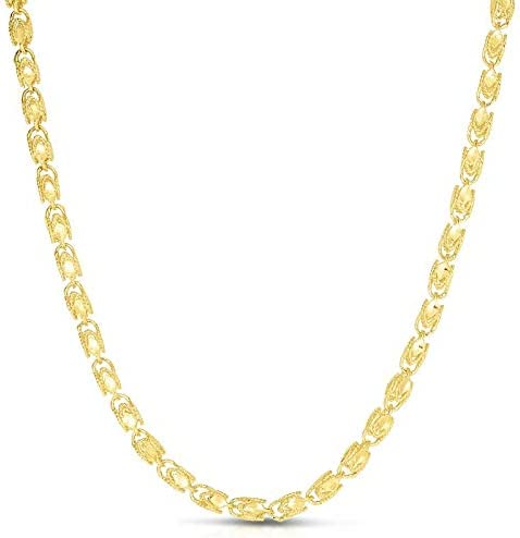 Floreo 10k Popularity Yellow Gold 4.5 Ranking TOP2 Solid Chain Turkish Rope Necklace