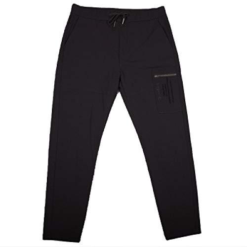 N/ A Pantalones para Hombre Pantalones de Traje de Bordado de Ajuste Relajado Pantalones de Vestir de Trabajo de Oficina Pantalones Formales de Negocios Rectos