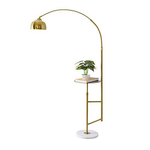Staande lamp Nordic van smeedijzer met salontafel vislamp verticale basis van marmer vloer licht slaapkamer woonkamer staande lamp