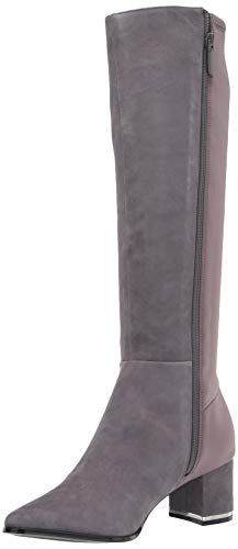 Calvin Klein Women's Freeda Knee High Boot, Thunder Grey, 4 UK