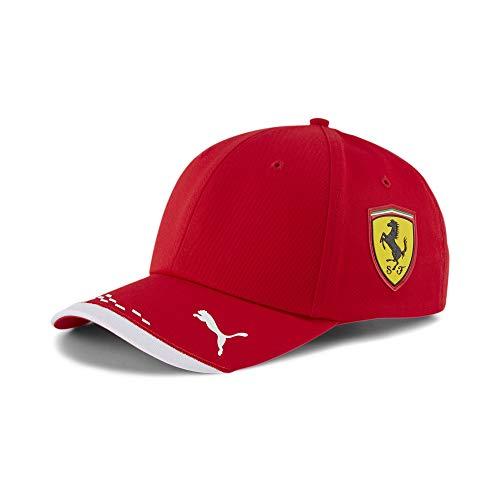 PUMA Unisex Ferrari Team Cap Baseballkappe, Rosso Corsa, Einheitsgröße