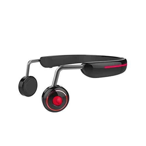 SFLRW Auriculares de conducción ósea Bluetooth: auriculares inalámbricos para la oreja abierta con micrófonos, sudor de titanio ligero a prueba de sudor para correr la reunión de ciclismo de conducció