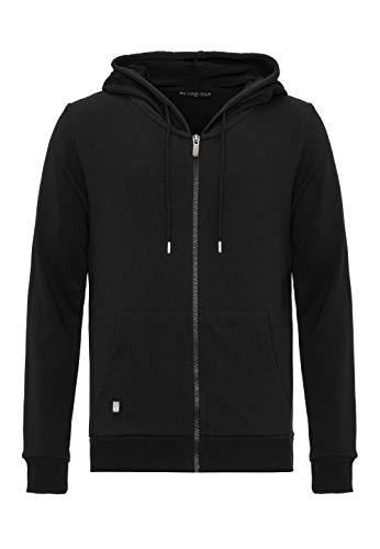 Redbridge Herren Sweatjacke Kapuzenpullover Zip Hoodie mit Reißverschluss Premium Basic Schwarz XXL