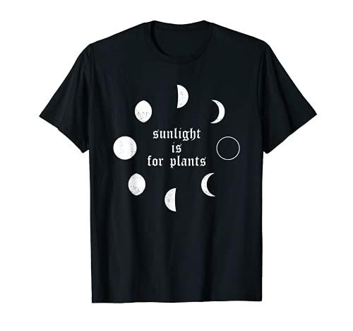 Sunlight is for Plants Grunge Goth Gothique Emo Filles Femme T-Shirt