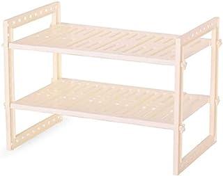 DJSMsnj Rangement de cuisine, étagère extensible à 2 niveaux pour dessous de l'évier, étagère de rangement pour cuisine, s...