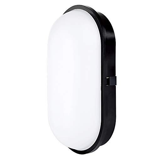 Chestele Lampada da Parete LED Moderna Impermeabile ovale 20W 3000K IP65 Illuminazione Per Esterni e Interni - nero