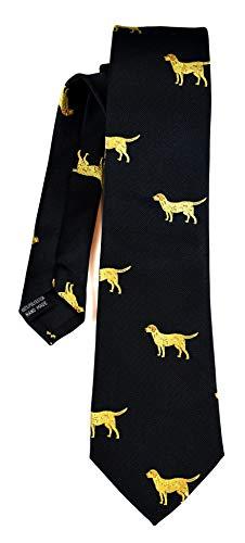 ADAMANT Alexanders Krawatte mit Golden Retriever Muster, Schwarz