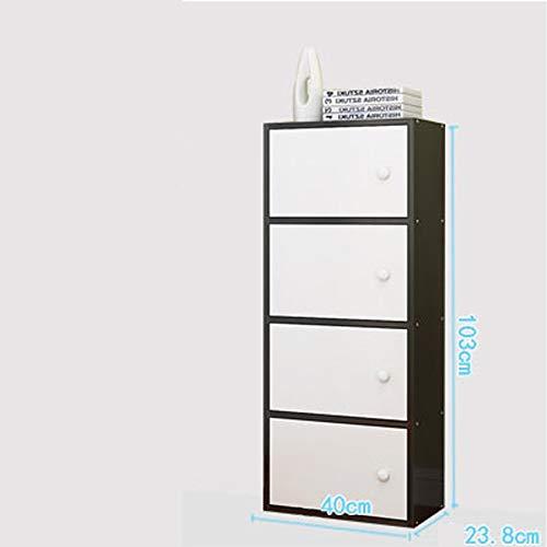 Inicio Simple Negro Gabinete de Almacenamiento con Puerta Simple Modern Bookcase Free Combinación Celosía Gabinete Económico estantería Muebles Gabinete de Almacenamiento Almacenamiento (Size : B)