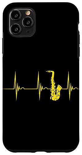 iPhone 11 Pro Max Saxophone Heartbeat Alto Sax EKG Pulseline Jazz Band Case