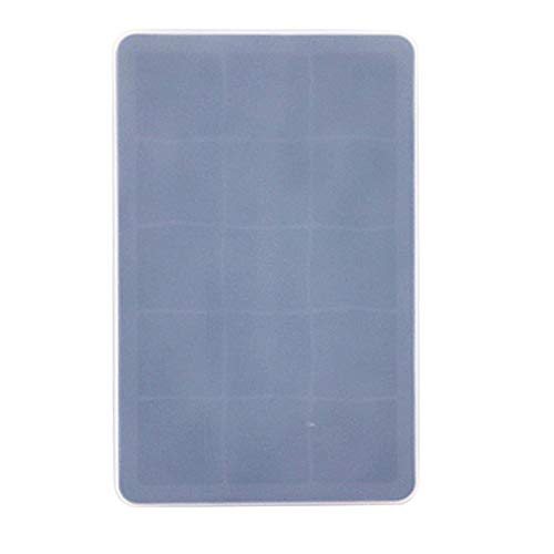 Coner 15 Grid Food Grade Silicone Ice Tray Home met deksel Ice Cube Mold Vierkant ijsmachine Kitchen Bar-accessoires, zwart