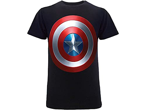 Marvel T-Shirt Capitan America Originale Avengers Scudo (L Adulto)