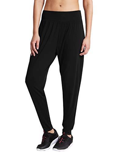 U-WEAR-4U Pantalones de yoga para mujer Marks & Spencer de secado rápido para yoga y fitness, para bailar, ropa deportiva y harén, Negro, 40