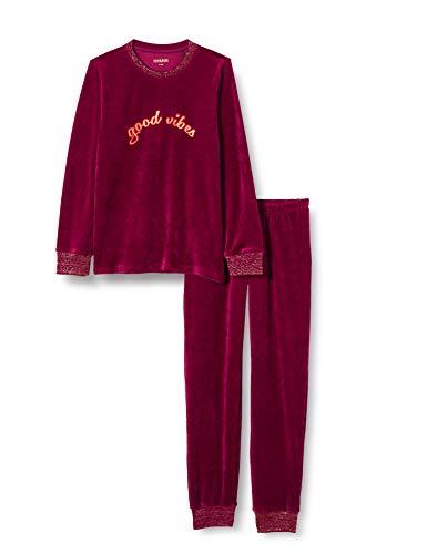 Schiesser Mädchen Schlafanzug lang Pyjamaset, Beere, 176