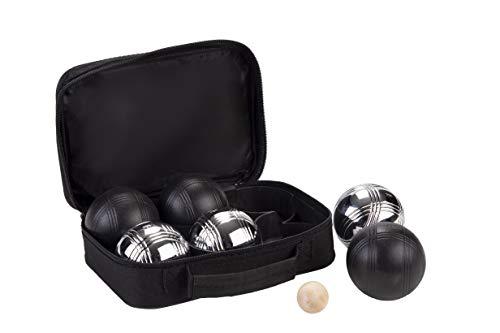 Engelhart - Jeu complet de 2 x 3 boules de pétanque noires et grises - 010207