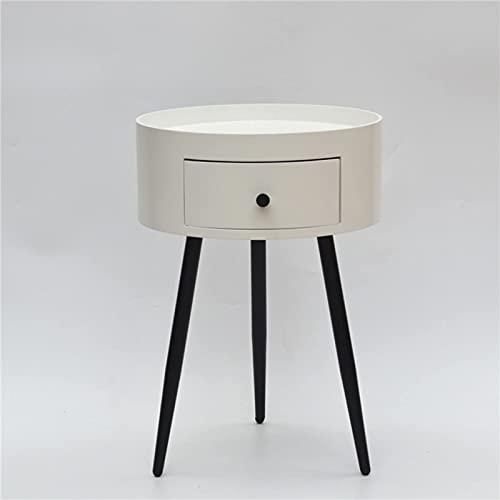 XXLYY Mesita de Noche Redonda, Tipo económico Simple de una Puerta, Mesa Auxiliar de Moda de estantería de Dormitorio Moderno Simple (Color: A)