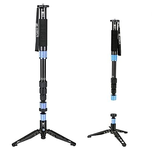 SIRUI AM-204V Einbeinstativ mit Standfuß (20° neigbar, 360° drehbar, Höhe: 160cm, Traglast: 8kg, Gewicht: 1,52kg) mit Handschlaufe