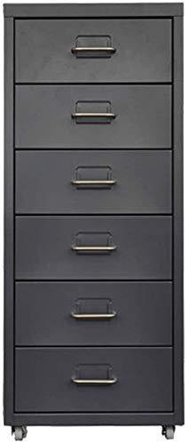 Carpeta Cajón Archivo Gabinete bajo Gabinete A4 Mueble de Almacenamiento Escritorio Datos móviles Metal Gabinete Archivo Actividad Armario (Color : Black, Size : 0.8mm) 🔥