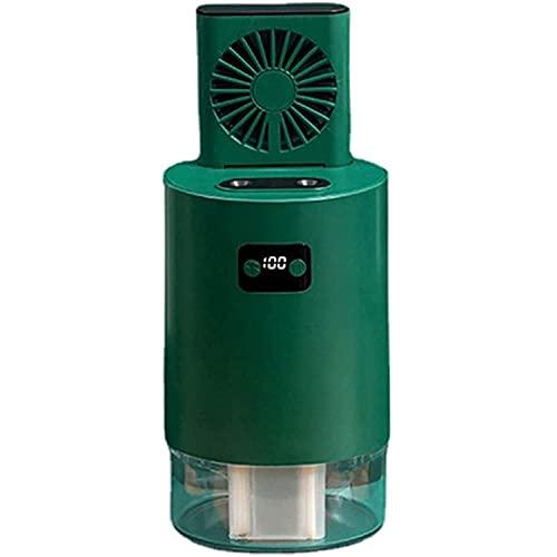 Aire acondicionado Ventilador de rociado de elevación portátil, ventilador de aire acondicionado refrigerado por agua, control remoto / control de botones, tanque de agua incorporado de 1000 ml y bate