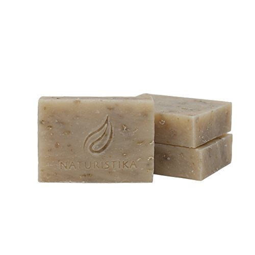 Lavender Oatmeal with Goat Milk Soap Bar (3 Pack), All Natural Handcrafted with Organic Oils. Face and Body Soap. For Men, Women and Teens.