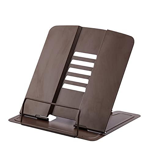 yonghe Soporte universal para libros de lectura y soporte para libros de lectura, portátil, portátil, soporte para libros, tableta y teléfono móvil (color café)