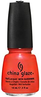 China Glaze Nail Lacquer With Hardeners - 14 Ml, Surfing For Boys - Red