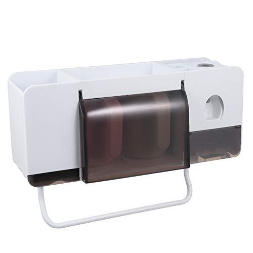 EXCEART Soporte de Cepillo de Dientes Montado en La Pared Dispensador de Cepillo de Dientes Multifuncional Estante de Almacenamiento de Baño para Baño