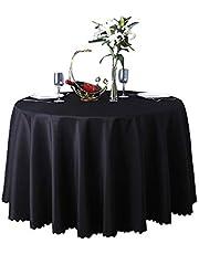 JK Home Hotel Restaurant Bruiloft Vergadering Ronde Tafelkleed Tafelloper Tafelhoezen in Wasbare Polyester Decoratie