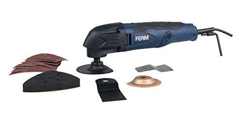 FERM Multitool - Multifunktionswerkzeug - Oszillationswerkzeug - 280W - Mit 16 Zubehöre - LED-Arbeitlicht - Variable Geschwindigkeitskontrolle - Staubabsaugung - Robustem Aufbewahrungskoffer