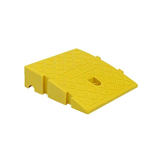 Buffer-Feng Kunststoff Bergauf-Pad, Leichte Anti-Rutsch-Innen Rampen Rollstuhl Downhill Threshold Pad Convenience Store Eingang Step Pad 7-13.5CM (Color : Yellow, Size : 25 * 27 * 11CM)