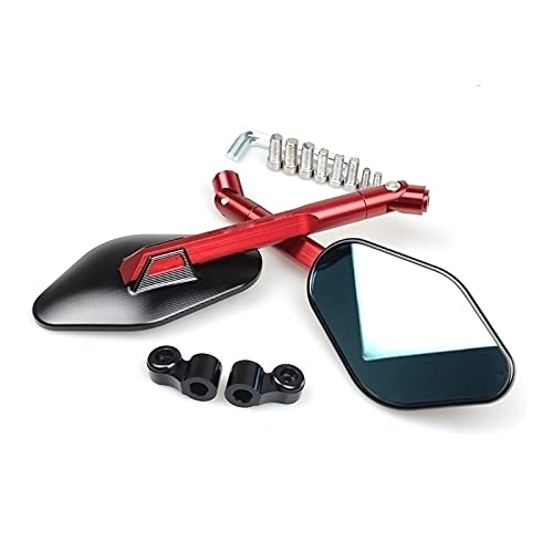 Universal 1 par de espejos retrovisores laterales para Yamaha YZF R1 R6 2005 2006 2007 2008 2009 R3 pegatina (color rojo)