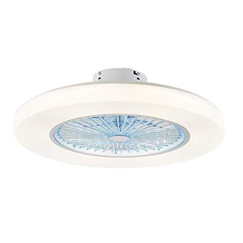 Deckenleuchte Deckenventilator Mit LED-Beleuchtung, 58 cm LED-Deckenventilatoren Dünn dimmende Fernbedienungslampe Unsichtbar Lässt Timing 72w Moderne einfache Heimdekoration, Blau