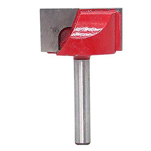 KATUR Hobelfräser für die Bodenreinigung, 6mm Schaft, Doppelflöten-Hartmetall-Fräser für die Bodenreinigung, Fräser für die Holzbearbeitung (6mm Schaft, 30mm Breite)