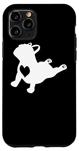 iPhone 11 Pro French Bulldog Yoga Pose Love Heart Frenchie Workout Gift Case