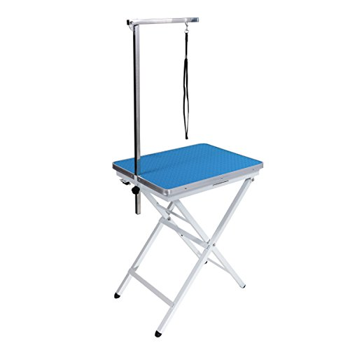 Mini Size Pet Dog Portable Grooming Table by Flying Pig Grooming (Sky Blue)