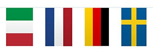 Folat Wimpelkette mit Europaflaggen, 10m